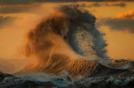 Lake Erie, Canada - colors, sunset, storm, wave