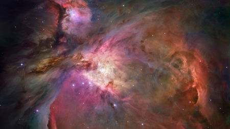 Orion Nebula - stars, orion, hubbell, Firefox Persona theme, milky way, space