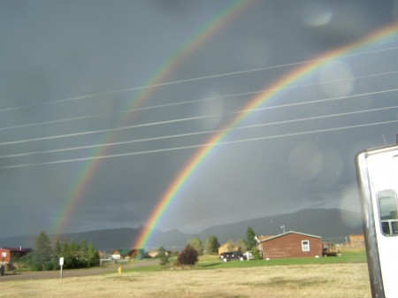 Double rainbow near Tetons - Sky, Nature, Mountains, Rainbows