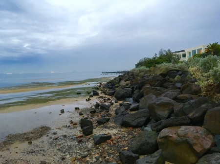 Winter Beach - Sea, Beach, Winter, SAnd, Rocks, Nature, Clouds, Water