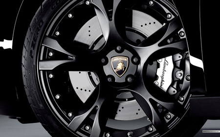 wheel of Lamborghini - cool, speed, black, lamborghini, wheel