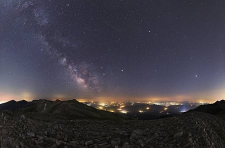 Summer Planets and Milky Way - stars, fun, cool, galaxy, planet, space
