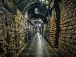brick lined underground tunnel hdr