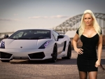Carrie LaChance and her Lamborghini