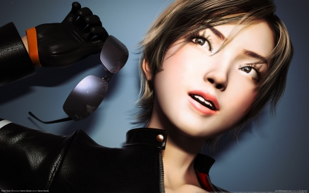 ridge racer - sunglasses, ridge, racer, girl