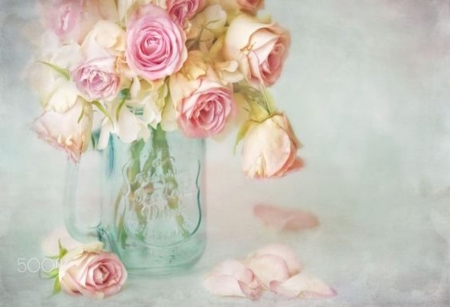 Sweet and Fragrant - lovely, fragrant, pastel, roses, gift, pink, sweet