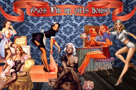 1950 S Pin Up Girls House Collages Abstract Background Wallpapers On Desktop Nexus Image 2151547