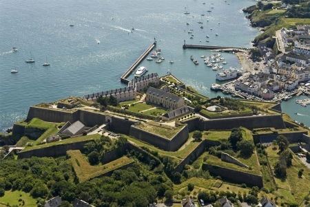 Citadelle Vauban Hotel-Musee - architecture, Hotel Musee, sky view, citadel, grass, Vauban, Ocean, old, Sea, French, Citadelle, vintage, hotel, European, France, building, Europe, fortress
