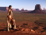 Cowgirl In Monument Valley..