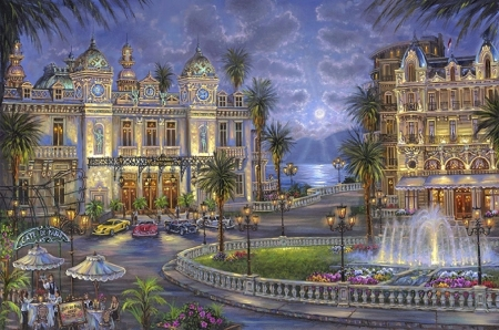 Casino de Monte Carlo - tourists, paintings, attractions in dreams, travels, entertainment, Casino, places, love four seasons, paradise, Monte Carlo, hotels, restaurants, architecture