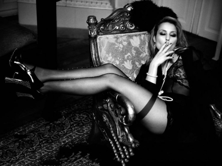 Noomi Rapace - model, legs, heels, cigarette, Rapace, stockings, actress, wallpaper, hot, Noomi Rapace, Noomi, 2015
