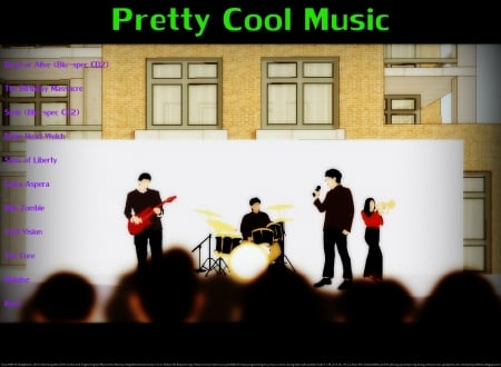 Pretty Cool Music 19 - rock, christian, religious, electronica, wave, metal, anime, drums, love, heaven, happiness, music, exercise partner, fun, joy, apartment, building, goth, cool, guitar, fitness partner, entertainment, dance, motivational, wisdom