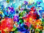 Transparent Colorful Roses