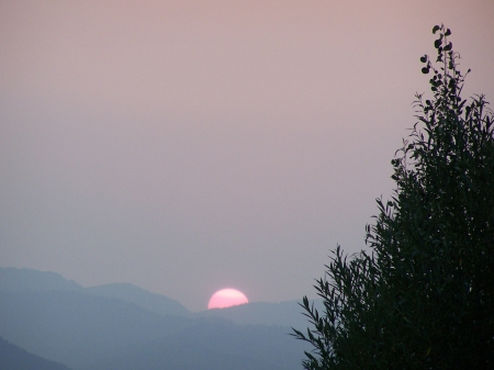 Sunset Smoke filled Sky Teton Valley, Idaho - Sunsets, Wildfires, Scenic, Mountains