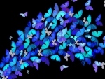 Burst of Blue Butterflies