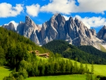 Peaks of the Odle-Geisler group in the South Tyrol, Italy