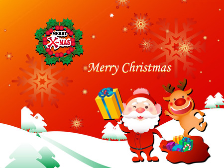 Merry Christmas - holidays, father christmas, christmas, x-mas, xmas, santa claus, winter, cold, merry christmas, night