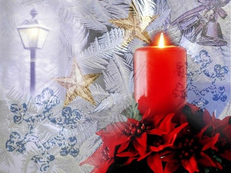 Christmas Candle - christmas, cold, candle, merry christmas, winter, xmas, x-mas, holidays, love, feast