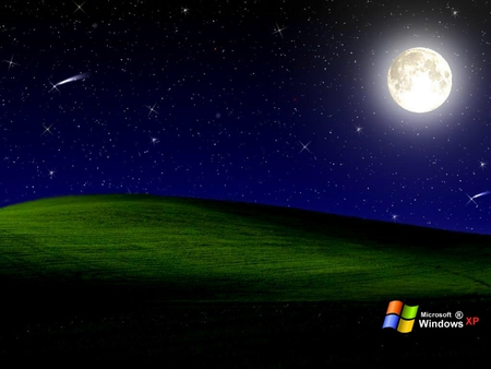 Starry Night Windows Windows Technology Background
