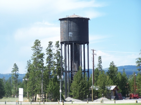 1910 Water Tower, West Yellowstone, Montana  - Walking, Educational, National Parks, Mountains, Tourism, Scenic, Historical