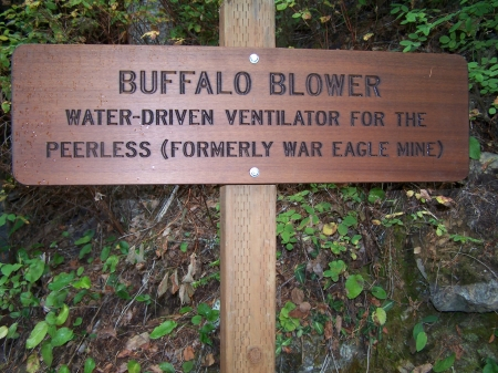Sign on Ed Pulaski Trail, Wallace, Idaho - Educational, Mountains, Mining, Fire, Historical, Trails