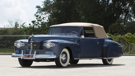 1942 Lincoln Continental Cabriolet - Classic, Conv, Whitewalls, Blue
