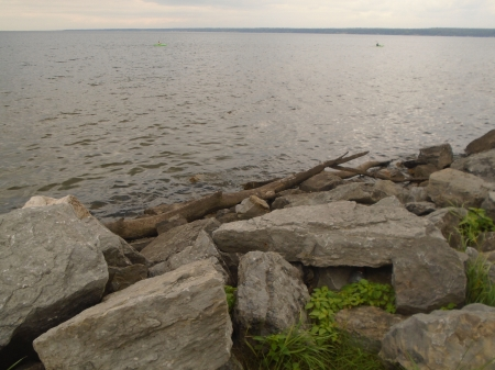 Oneida Lake - rocks, lakes, serenity, contrasts