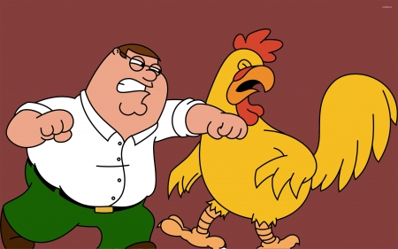 family guy - rooster, griffen, peter, family, guy