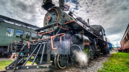 Ready to Roll - train, engine, transport, steam, tracks