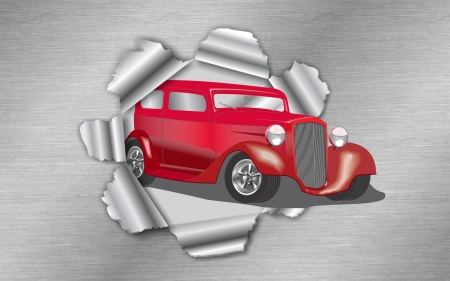 Auto Bursting Thru - Popular Cars, Red Cars, Classic Cars, Hot Rods, Nice Wheels