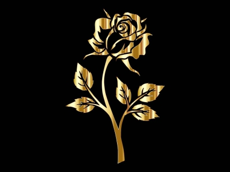 The Golden Rose 3d And Cg Abstract Background Wallpapers