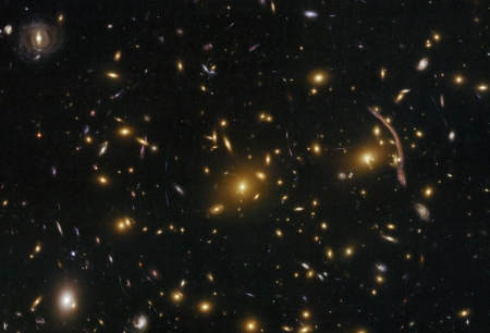Abell 370 Galaxy Cluster Gravitational Lens - stars, cool, space, fun, galaxies
