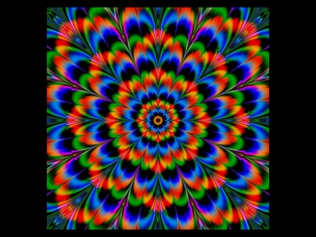 Kaleidoscope 2 - Kaleidoscope, Brillant Colors, Bright, Fractal, Vivid