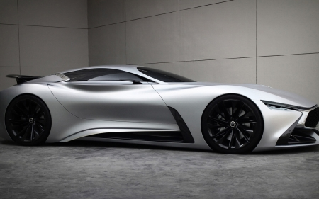 Infiniti Vision Gran Turismo Concept - cars, side view, concept, Infiniti, vehicles, Infiniti Gran turismo, gray cars