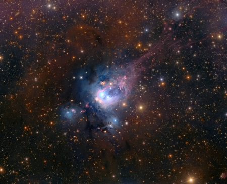 Young Suns of NGC 7129 - stars, fun, cool, galaxies, space