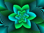 A Green Rose Abstract