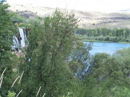 Waterfall near Swan Valley, Idaho - Scenic, Mountains, Picturesque, Rivers