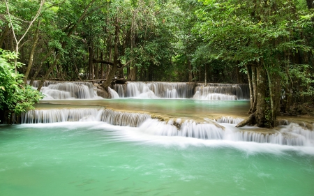 Beautiful Waterfall from Thailand - waterfall, nature, trees, thailand