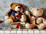 Teddy Bears and Toy Doll