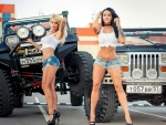 OffRoad Babes and their YJ Jeeps