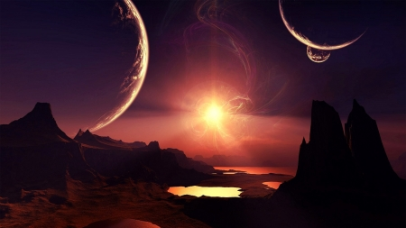 Space Haven - planets, 3d, sun, worlds, cg, space, render