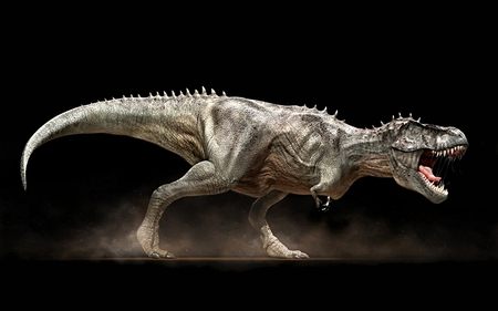 Tyrannosaurus Rex - Vlad Konstantinov - stunning, 3d and cg, horror, nice, fantasy, paleontology, scare, colored, scary, face, tyrannosaurus rex, reptile, leg, tooth, black, predator, demon, cool, screaming, awesome, great, tyrannosaur, evil, beautiful, twilight, picture, animal, t-rex, darkness, grey, color, vlad konstantinov, reptiles, prehistory, light, other, animals, night, amazing, legs, cretaceous, dark art, dinosaurs, colors, fun, monsters, trex, 3d, tyrannosaurus, dark, drawing, fight, prehistoric, monster, funny, dinosaur, creature
