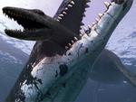 Pliosaur crushing Down Plesiosaur
