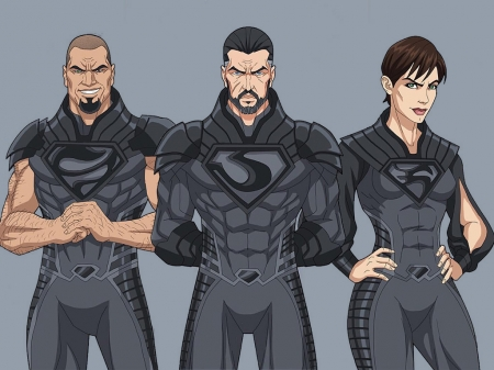 Zod,Ursa And Non - Villains, Comics, Superheroes, DC Comics, Ursa, Non, Zod