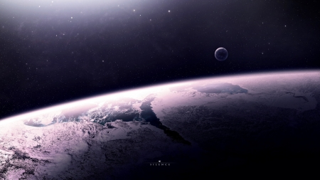 Silence - moons, planets, 3d, outer space, space
