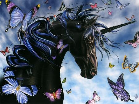 Dark Unicorn Fantasy Art