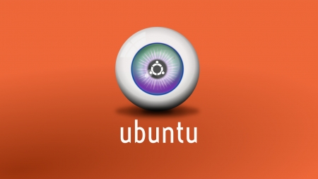 Ubuntu Eyeball Orange - linux, orange, eye, ubuntu, computer, plain