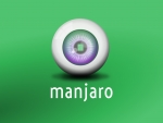 Manjaro Linux Green Wallpaper: Eyeball