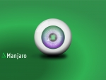 Manjaro Linux Green Wallpaper: Eyeball 2
