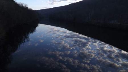 Reflections in the water - morning beauty, clouds, mirror river, reflections in water